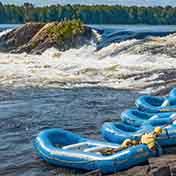 Garvins Chute Snack Stop Ottawa River Wilderness Tours National Whitewater Park Ontario Canada Best Adventure Trip