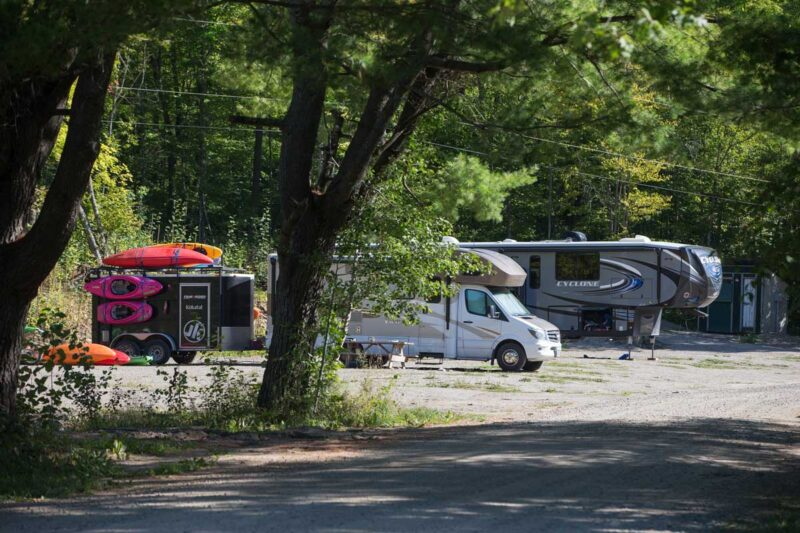 RV Campsites at Wilderenss Tours in the National Whitewater Park