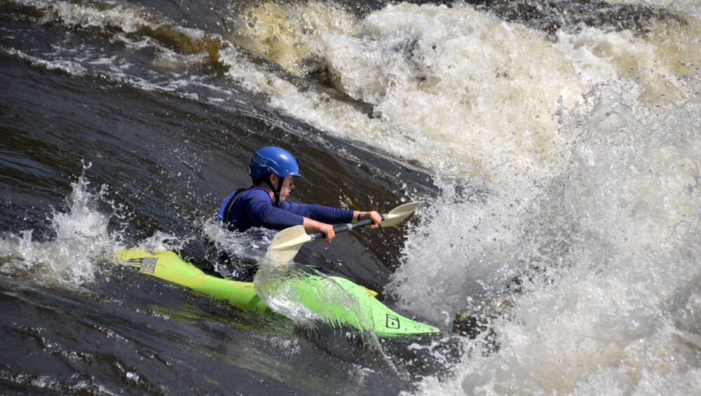 Teen Kayak Camp National Whitewater Park Ottawa Kayak School Ontario Canada Wilderness Tours