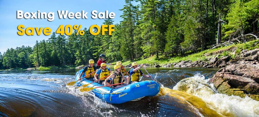 boxing week sale 2020 whitewater rafting trips