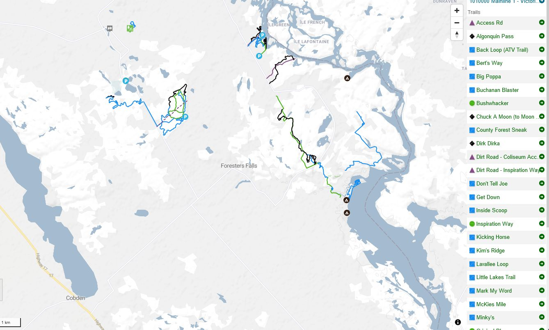 Trail Forks Map Borca