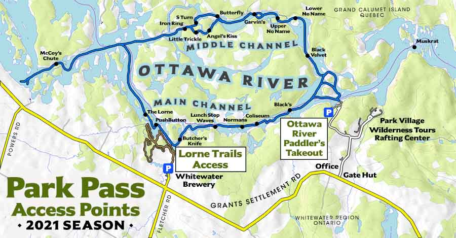 Access-Points Ottawa River Trails Takeout Wilderness Tours National Whitewater Park