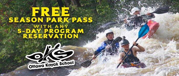 Park Season Pass Ottawa River Whitewater Rocher Fendu Rapids Takeout Access Ottawa Kayak School Deal